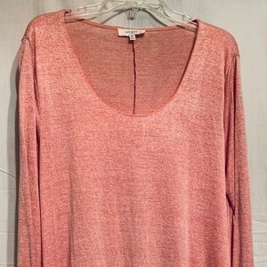 Like New Peach Colored Lace Trimmed Tunic